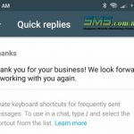 whatsapp business quick replies image
